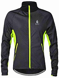 WOLFBIKE Cycling Jacket Men's Bike Jacket Sweatshirt Windbreakers Fleece Jackets Tops Thermal / Warm Windproof Fleece Lining Lightweight