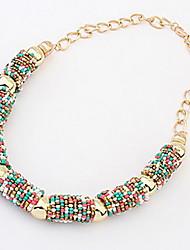 economico -collana stile bohemia perline a cerchio semicircolare (colori assortiti) elegante