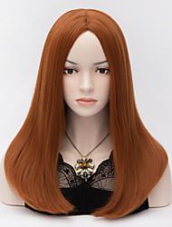 Synthetic Wigs  Black Widow Scarlett Orange Brown Long Cosplay Wig