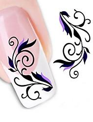 Недорогие -1 pcs Наклейка для переноса воды / 3D-стикеры для ногтей Цветы / Абстракция / Мода Повседневные