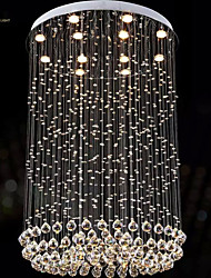 cheap -Modern LED Crystal Chandeliers Round Pendant Lights Lighting Lamps Fixtures AC 100 to 240V Transparent K9 Crystal