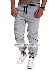 economico -Per uomo A vita medio-alta Attivo Elasticizzato Largo Attivo Taglia piccola Pantaloni della tuta Pantaloni, Tinta unita A strisce Cotone
