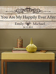 cheap -E-HOME® Personalized Signature Canvas Frame-You Are My Happily Ever After