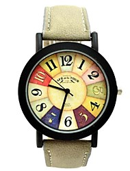 Men's Gold Round Dial PU Band Quartz Strap Watch Analog Wrist Watch (Assorted Colors) Cool Watches Unique Watches Fashion Watch