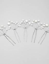 cheap -Imitation Pearl Alloy Hair Pin 1 Wedding Special Occasion Headpiece