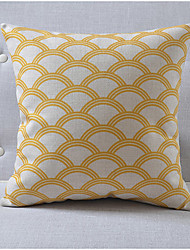 Country Style Shell Pattern Cotton/Linen Decorative Pillow Cover