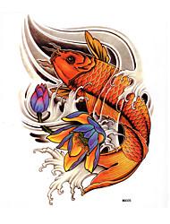 Недорогие -1 pcs Временные тату Временные татуировки Тату с животными Водонепроницаемый / Non Toxic Искусство тела / Нижняя часть спины / Waterproof
