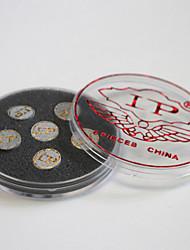 Pelle snooker / lp biliardo stecca punta scatola 10mm 6pcs (duro: m, s, h scegliere