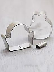 3 Pieces Cartoon Penguin Shape Cookie Cutters Set Fruit Cut Molds Stainless Steel