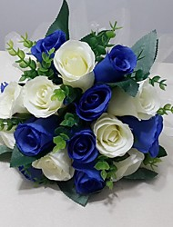 """Недорогие -Свадебные цветы Букеты Свадьба / Вечеринка / ужин Satin 9,84""""(около 25см)"""