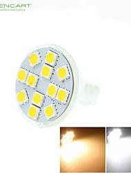 cheap -5W GU4(MR11) LED Spotlight MR11 12 SMD 5060 420-500 lm Warm White Cold White Natural White 3500K  6000K 6500K K Dimmable Decorative DC 12