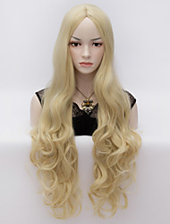 cheap -80cm U Party Curly Cosplay Party Wig Multi colors available Light Blonde