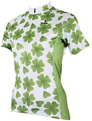 ILPALADINO 女性用 半袖 サイクリングジャージー - グリーン バイク ジャージー, 速乾性, 抗紫外線, 高通気性