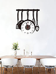 cheap -DIY Creative Kitchenware Wall Clock