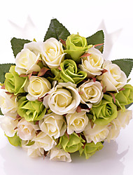 """Bouquets de Noiva Redondo Rosas Buquês Casamento Festa / noite Cetim 11.8""""(Aprox.30cm)"""