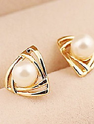 cheap -Korean Fashion Triangular Gold Earrings Classical Feminine Style