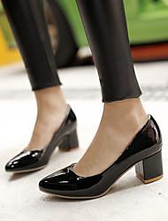 Feminino Sapatos Courino Primavera Verão Outono Salto Sabrina Para Social Branco Preto Vermelho