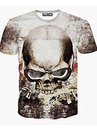 Informell/Business Rund - Kurzarm - MEN - T-Shirts ( Baumwoll Mischung )