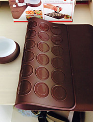 cheap -Macarons Decaoration Set Silicone Baking Pastry Sheet Macaroons Mat With Decorating Pen Set