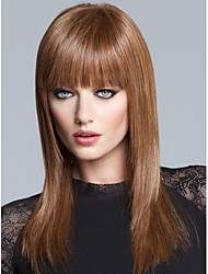 cheap -High Quality Capless Long  Straight Mono Top Virgin Remy  Human Hair Wigs 7 Colors to Choose