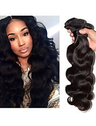 Menneskehår, Bølget Brasiliansk hår Krop Bølge 3 Dele hår vævninger