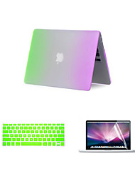 "Case for Macbook Air 13.3"" Color Gradient Plastic Material 3 in 1 Rainbow Matte Full Body Case with Keyboard Cover and Screen Protector"