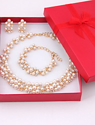 cheap -Women's Pearl Jewelry Set Earrings / Necklace / Bracelets - Fashion Jewelry Set For Wedding / Party / Special Occasion