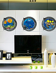 3D Wall Stickers Wall Decals Style Underwater World PVC Wall Stickers