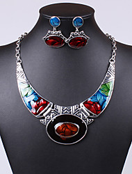 Women's Jewelry Set Drop Earrings Pendant Necklaces Unique Design Colorful European Statement Jewelry Festival/Holiday Synthetic