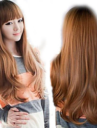cheap -Women Synthetic Wig Long Curly Brown With Bangs Natural Wigs Costume Wig