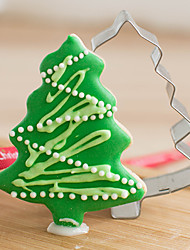 cheap -Christmas Pine Tree Shape Cookie Cutters  Fruit Cut Molds Stainless Steel
