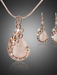 Women's Jewelry Set Drop Earrings Pendant Necklaces Unique Design Elegant Bridal Synthetic Gemstones Cubic Zirconia Animal Shape Drop