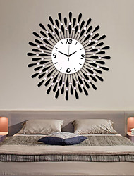 cheap -Modern Fashion Water-Drop Pattern Iron Round Wall Hanging Clock