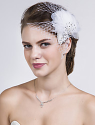 cheap -Feather Net Flowers 1 Wedding Special Occasion Casual Headpiece