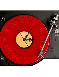 cheap -Modern/Contemporary Houses 3D Wall Clock Phonograph Indoor Clock