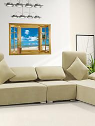 Adesivi murali 3d parete in stile decalcomanie degli autoadesivi della parete finestre in pvc