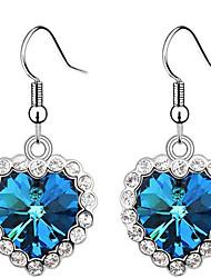 abordables -Cristal - Cristal Autrichien Cœur Amour, Cœur Rouge / Vert / Bleu Pour