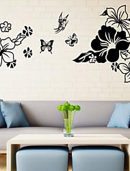 abordables -3d papillons de style stickers muraux mur de décalcomanies dans les fleurs pvc stickers muraux