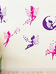 Animaux Bande dessinée Floral Stickers muraux Stickers avion Stickers muraux décoratifs Matériel Lavable Amovible Décoration d'intérieur