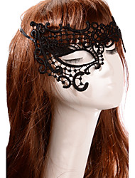 cheap -Black Sexy Lady Lace Mask Cutout Eye Half Face Masquerade Party Fancy Dress Costume