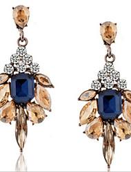 baratos -Mulheres Brincos Compridos Cristal Luxo Fashion Europeu Pedras preciosas sintéticas Imitações de Diamante Liga Caído Jóias Jóias de