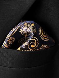 cheap -UH10 Shlax&Wing Paisley Black Gold Pocket Square Mens Ties Silk Hankies