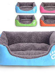 Cat / Dog Bed Pet Mats & Pads Waterproof / Cute Cotton / Fabric Green / Blue / Orange / Rose