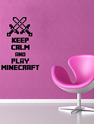 cheap -3D Wall Stickers Wall Decals Style Minecraft English Words & Quotes PVC Wall Stickers