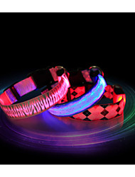 cheap -Cat Dog Collar LED Lights Waterproof Nylon Red Blue Pink