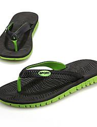 Muškarci Cipele Sintetika Proljeće Ljeto Jesen Udobne cipele Papuče i japanke za Kauzalni Obala Crn Sive boje Plava