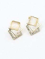billige -Dame Krystal Stangøreringe - 18K Guldbelagt, Rhinsten, Guldbelagt Europæisk, Mode Guld Til / Simuleret diamant / Østrigsk krystal