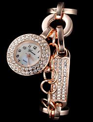 Dame Modeur Quartz Legering Bånd Glitrende Elegante Sølv Guld Rose Guld Sølv Gylden Rose Guld