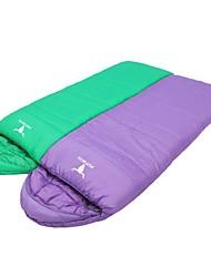 baratos -Saco de dormir Ao ar livre -10°C~+10°C Retangular Manter Quente A Prova de Vento Respirabilidade para Viajar Primavera Outono