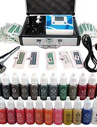 Elettrico Kit make up Polveri per sopracciglia Labbra Eyeliner Corpo Other Macchinette per Tatuaggio 1 Ago Round Liner 3 Aghi Round Liner